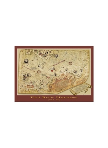 Art Puzzle Art Puzzle Piri Reis Haritası 1000 Parça Puzzle  Renksiz